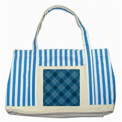 Zigzag  pattern Striped Blue Tote Bag