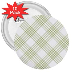 Zigzag  pattern 3  Buttons (10 pack)