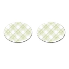 Zigzag  pattern Cufflinks (Oval)
