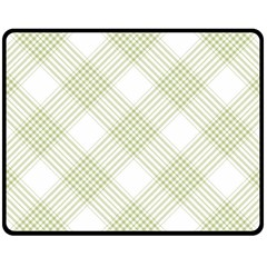Zigzag  pattern Double Sided Fleece Blanket (Medium)