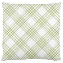 Zigzag  pattern Large Flano Cushion Case (One Side)