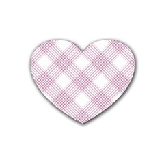 Zigzag pattern Heart Coaster (4 pack)