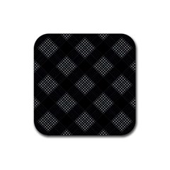 Zigzag pattern Rubber Square Coaster (4 pack)