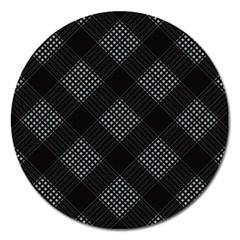 Zigzag pattern Magnet 5  (Round)