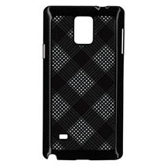Zigzag pattern Samsung Galaxy Note 4 Case (Black)