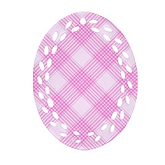 Zigzag pattern Oval Filigree Ornament (Two Sides)