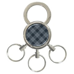 Zigzag pattern 3-Ring Key Chains