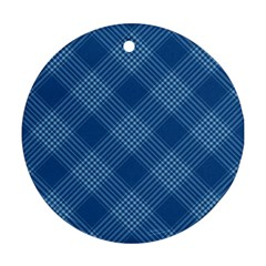 Zigzag pattern Round Ornament (Two Sides)