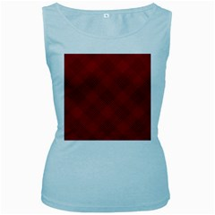 Zigzag pattern Women s Baby Blue Tank Top