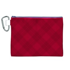 Zigzag pattern Canvas Cosmetic Bag (XL)