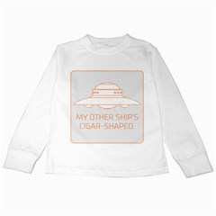 My Other Ship s Cigar-Shaped Kids Long Sleeve T-Shirts