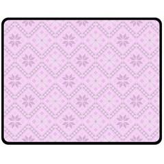 Pattern Double Sided Fleece Blanket (Medium)