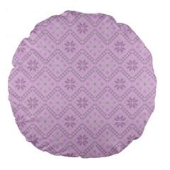 Pattern Large 18  Premium Flano Round Cushions
