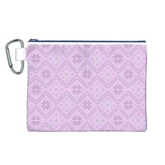 Pattern Canvas Cosmetic Bag (L)
