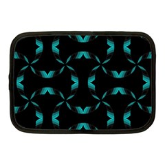Background Black Blue Polkadot Netbook Case (Medium)