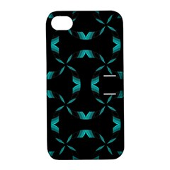 Background Black Blue Polkadot Apple iPhone 4/4S Hardshell Case with Stand