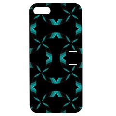 Background Black Blue Polkadot Apple iPhone 5 Hardshell Case with Stand