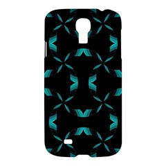 Background Black Blue Polkadot Samsung Galaxy S4 I9500/I9505 Hardshell Case