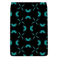Background Black Blue Polkadot Flap Covers (S)