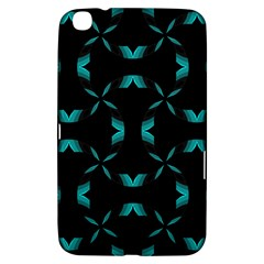 Background Black Blue Polkadot Samsung Galaxy Tab 3 (8 ) T3100 Hardshell Case