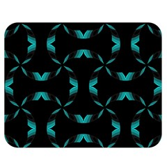 Background Black Blue Polkadot Double Sided Flano Blanket (Medium)