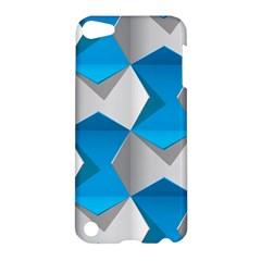 Blue White Grey Chevron Apple iPod Touch 5 Hardshell Case