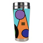 Basic Shape Circle Triangle Plaid Black Green Brown Blue Purple Stainless Steel Travel Tumblers Right