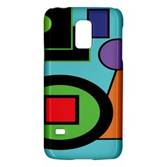 Basic Shape Circle Triangle Plaid Black Green Brown Blue Purple Galaxy S5 Mini