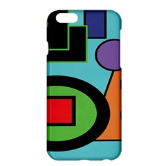 Basic Shape Circle Triangle Plaid Black Green Brown Blue Purple Apple iPhone 6 Plus/6S Plus Hardshell Case