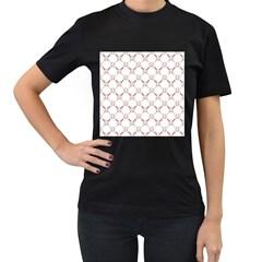 Baseball Bat Scrapbook Sport Women s T-Shirt (Black) (Two Sided)
