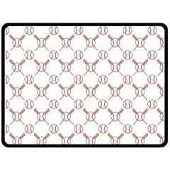 Baseball Bat Scrapbook Sport Fleece Blanket (Large)