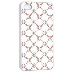 Baseball Bat Scrapbook Sport Apple iPhone 4/4s Seamless Case (White)