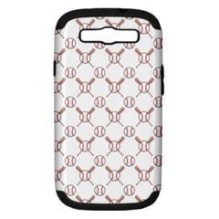 Baseball Bat Scrapbook Sport Samsung Galaxy S III Hardshell Case (PC+Silicone)