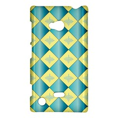Yellow Blue Diamond Chevron Wave Nokia Lumia 720