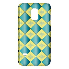 Yellow Blue Diamond Chevron Wave Galaxy S5 Mini