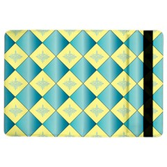 Yellow Blue Diamond Chevron Wave iPad Air 2 Flip