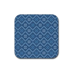 Pattern Rubber Square Coaster (4 pack)