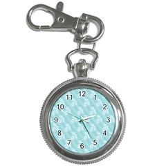 Christmas Day Ribbon Blue Key Chain Watches