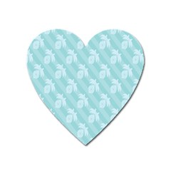 Christmas Day Ribbon Blue Heart Magnet