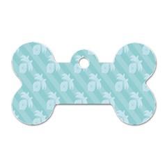 Christmas Day Ribbon Blue Dog Tag Bone (Two Sides)