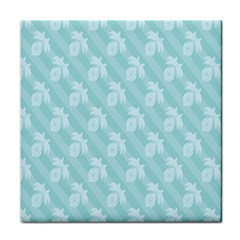 Christmas Day Ribbon Blue Face Towel