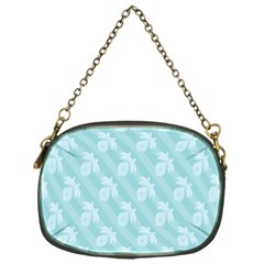 Christmas Day Ribbon Blue Chain Purses (One Side)
