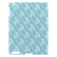 Christmas Day Ribbon Blue Apple iPad 3/4 Hardshell Case