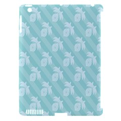 Christmas Day Ribbon Blue Apple iPad 3/4 Hardshell Case (Compatible with Smart Cover)