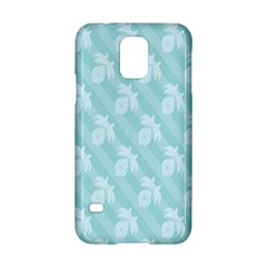 Christmas Day Ribbon Blue Samsung Galaxy S5 Hardshell Case