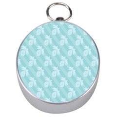Christmas Day Ribbon Blue Silver Compasses