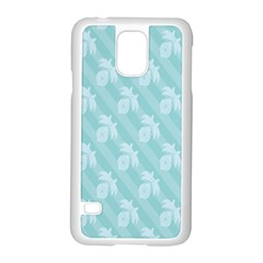 Christmas Day Ribbon Blue Samsung Galaxy S5 Case (White)