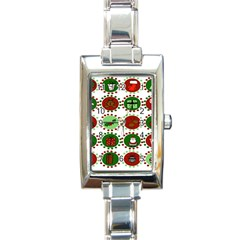 Christmas Rectangle Italian Charm Watch