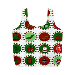 Christmas Full Print Recycle Bags (M)