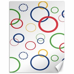 Circle Round Green Blue Red Pink Yellow Canvas 18  x 24